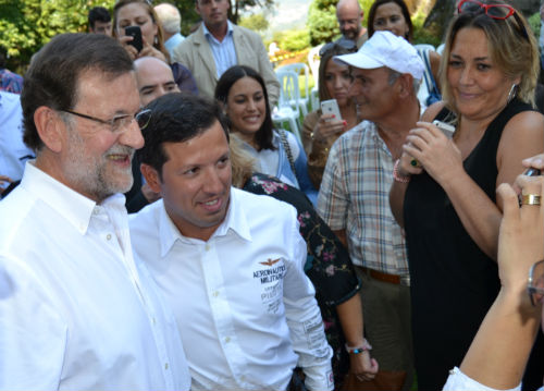 La Guardia Civil blinda a Rajoy, en Soutomaior, frente a las protestas