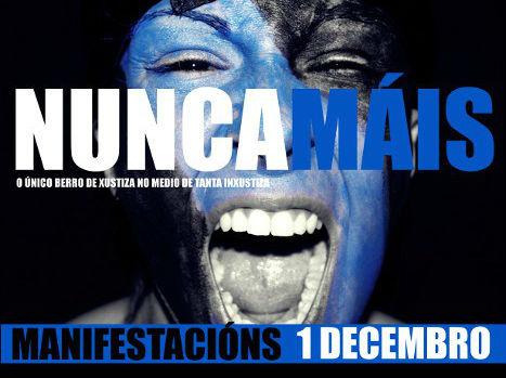 """Nunca Maís chama a manifestarse este domingo, día 1, contra a """"sentenza inxusta"""" do Prestige"""
