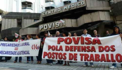 Os traballadores de Povisa convocan folga xeral o 17 de marzo