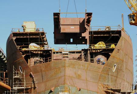 Concentración en defensa del empleo naval convocada por los trabajadores de Navantia