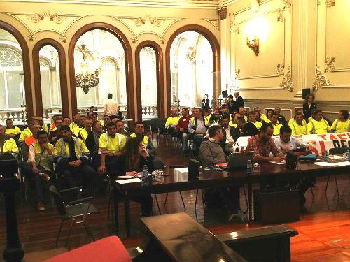 El Pleno de la Diputación apoya a los trabajadores de Tafisa y Construcciones Crespo