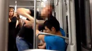 Identificando el nazi que pegó a un joven oriental en el Metro de Barcelona