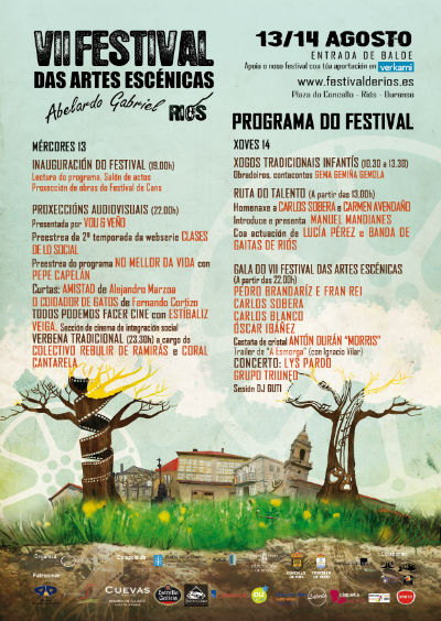 El Festival de Riós recibe este año a Carlos Sobera y rinde homenaje a Antonio Durán 'Morris'