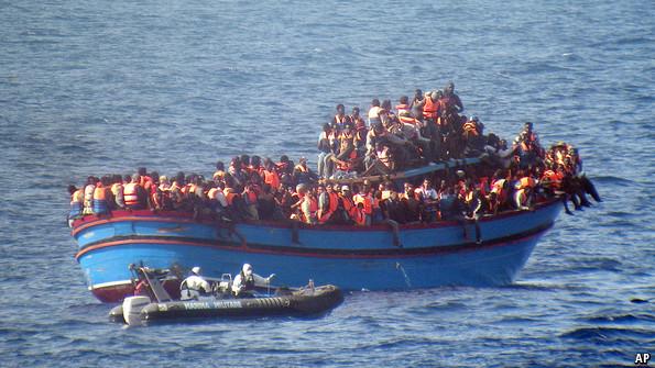 Durante 2014, más de 3.000 inmigrantes murieron en aguas del Mediterráneo