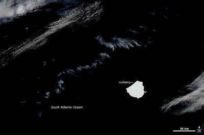 Un iceberg 50 kilómetros cuadrados más grande que todo Vigo, a la deriva por el Atlántico Sur