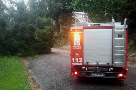 Máis de 80 inidencias atendidas en toda Galicia, causadas polo temporal de chuvia e neve