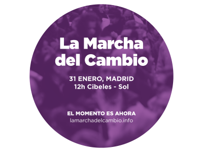 Podemos convoca este sábado en Madrid 'la Marcha del Cambio'