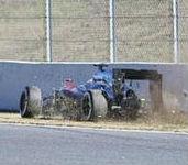 Un aficionado a la F1 hace una simulación del accidente de Fernando Alonso