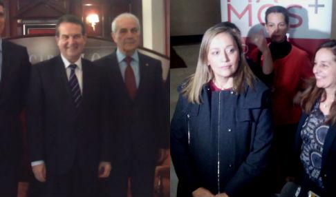 El alcalde y la candidata del PP a la Alcaldía evitan saludarse ante la prensa