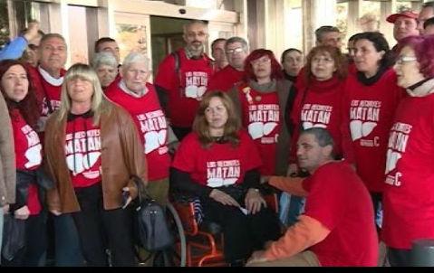 Botan aos afectados pola Hepatite C do Parlamento de Galicia