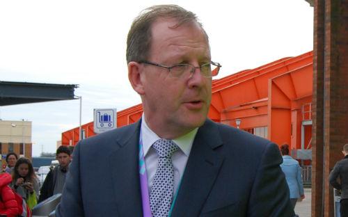 Nick Burton, director del aeropuerto de Luton, este lunes/Tresyuno Comunicación