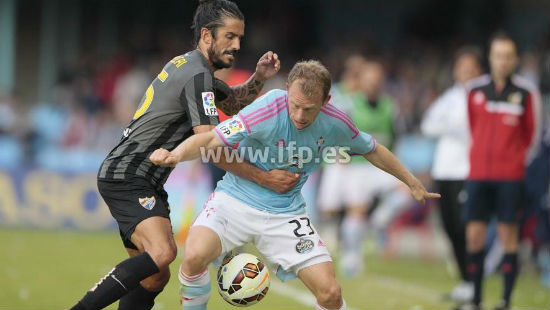 El Celta sigue soñando con Europa tras vencer al Málaga en Balaídos (1-0)
