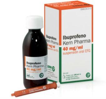Sanidad ordena retirar un lote del Ibuprofeno para niños, Kern Pharma