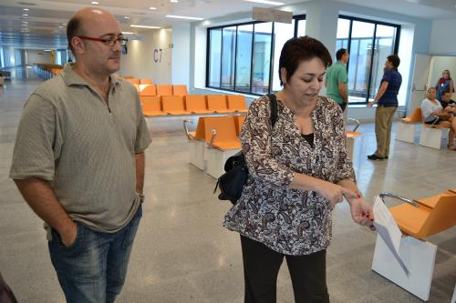 Oreste González y Josefina Álvarez, primeros pacientes del nuevo hospital