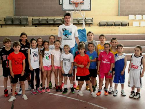O xogador do Real Madrid, Jonathan Barreiro, no Campus de Baloncesto do Seis do Nadal