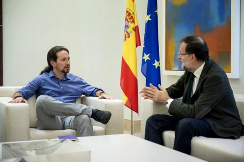 Pablo Iglesias rechaza sumarse a Rajoy, Sánchez y Rivera y pide que haya referéndum en Cataluña, en el que pedirá el 'No'
