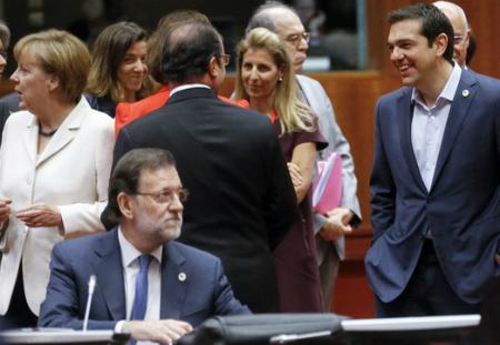 Rajoy solo durante una reunión de jefes de Estado y de Gobierno de la UE