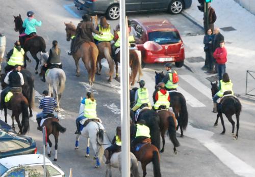 Cientos de caballos por el centro de Vigo