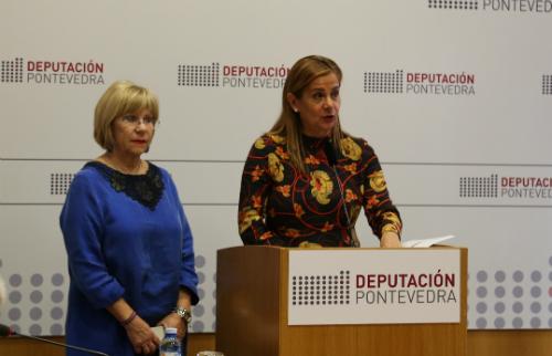 A presidenta da Deputación, este xoves durante a presentación