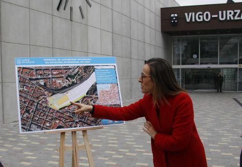 A conselleira de Infraestructuras, en Vigo para falar do proxecto de Estación Intermodal