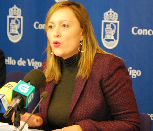 Elena Muñoz, portavoz del PP en el Conncello/Tresyuno COmunicación