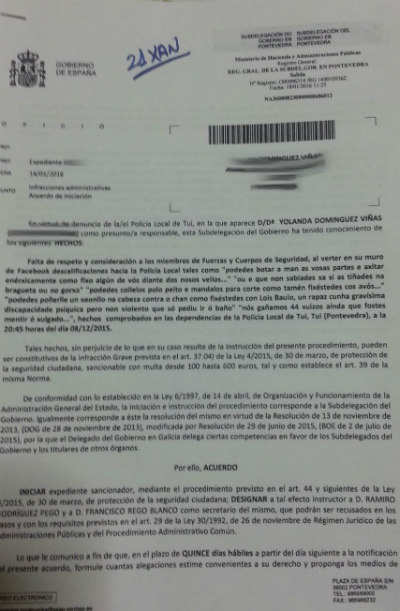 """Afectados das Preferentes do Baixo Miño denuncian que """"membros da Policía Local de Tui  continúan repirmindo aos nosos membros"""""""