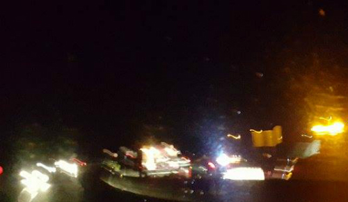 Un nuevo accidente en la A-55, el número 48 de este mes, causa un herido en el kilómetro 12 de la A-55