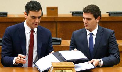 """Albert Rivera vuelve a negar a Pedro Sánchez, """"el pacto que firmamos no pone nada de derogar la reforma laboral del PP"""""""