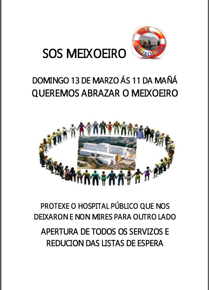 """@SOSMEIXOEIRO chama a 'abrazar o domingo día 13 o hospital """"contra a súa privatización e desmantelamento"""""""