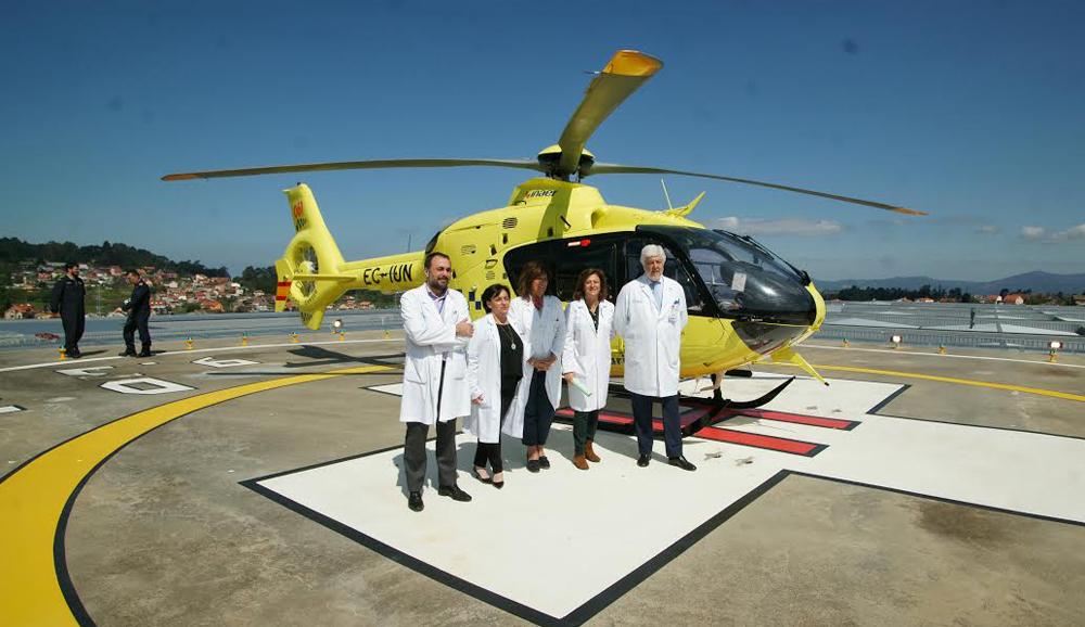 El helipuerto del Hospital Álvaro Cunqueiro permitirá ahorrar tiempo en los traslados de pacientes