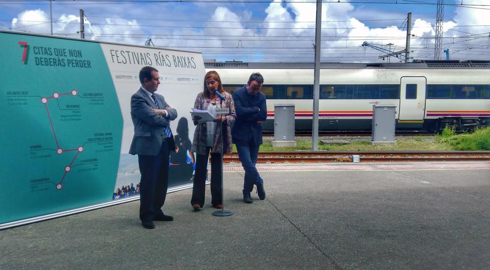 Os Festivais Rías Baixas viaxan en tren a Portugal