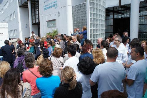 Os traballadores pechados no Meixoeiro fan un chamamento a participar na manifestación do día 22