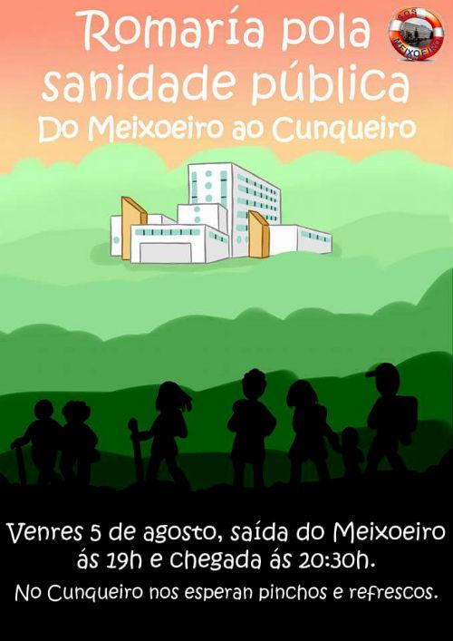 @SOSMeixoeiro organiza unha andaina para esixir unha Sanidade Pública para todos e de calidade