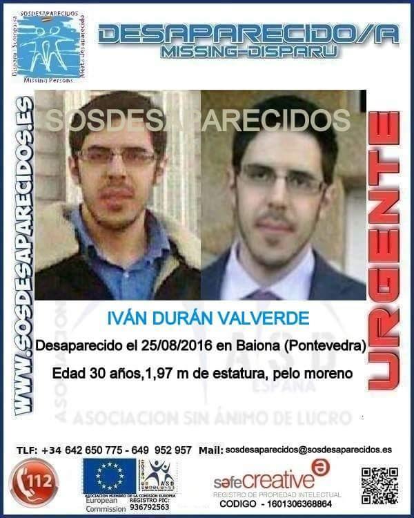 La familia de Iván Durán pide los mismos medios para buscar a todos los desaparecidos