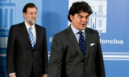 Moragas en su toma de posesión del cargo de jefe de Gabinete del presidente del Gobierno, Mariano Rajoy