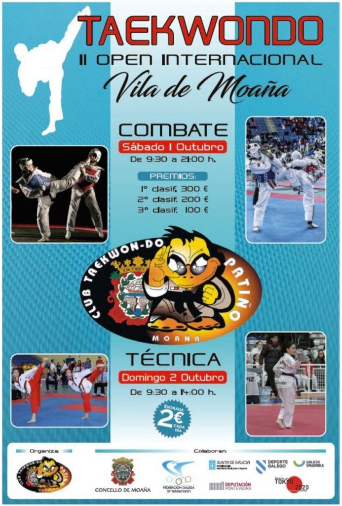 O II Open Internacional de Moaña reunirá a 550 taekwondistas