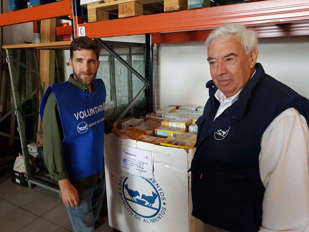Gonzo en el Bnco de Alimentos de Vigo/ Foto:vigoalminuto.com