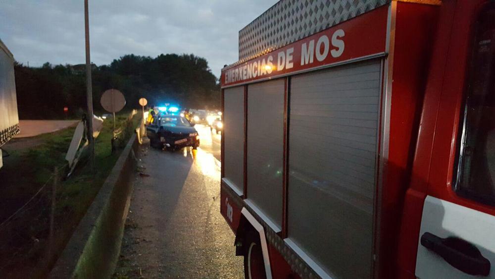 Uno de los accidentes sucedidos en los últimos días en la A-55. Foto de archivo: BA