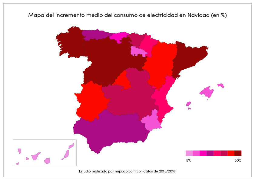 Los hogares gallegos incrementan un 27% su consumo de electricidad en Navidad