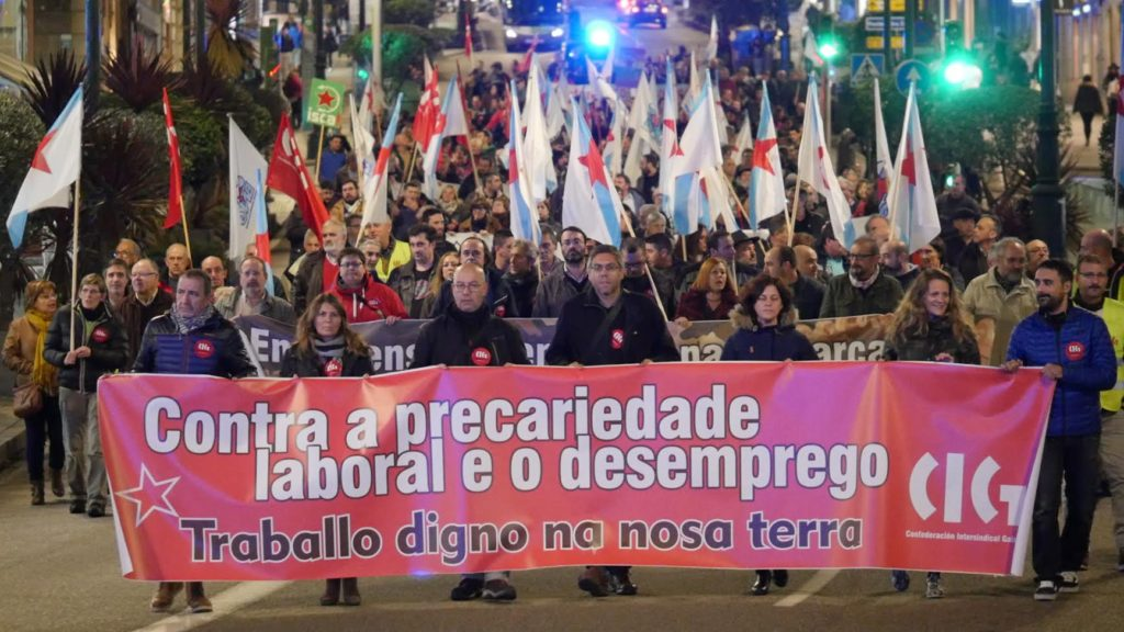 Vigo sale a la calle para protestar contra la precariedad laboral