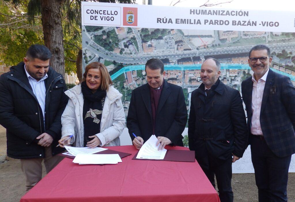 Vigo y @depo_es firman la cesión y humanización de la calle Emilia Pardo Bazán