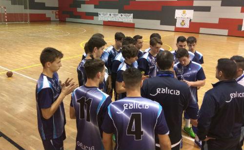 Cinco trunfos galegos na primeira xornada do Campionato de España de seleccións de Balonmán