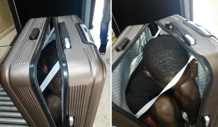 Detenida en la frontera de Ceuta cuando pretendía pasar a una persona dentro de una maleta