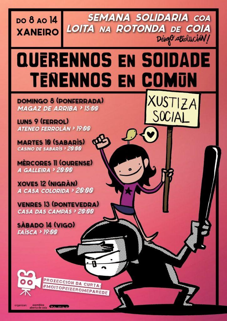 """@AsembleaDeCoia organiza unha semana en """"solidariedade coa loita na rotonda"""""""