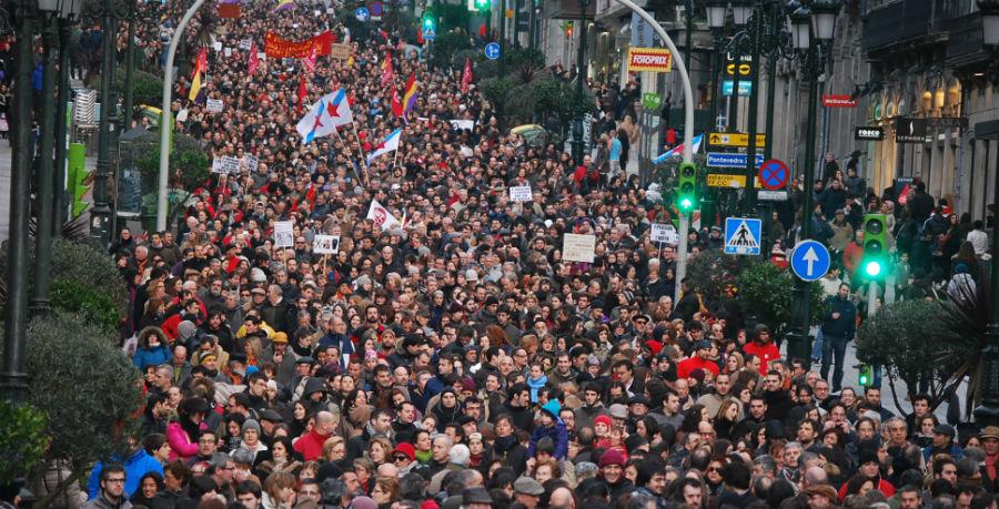 Manifestación en Vigo o mércores para esixir a recuperación dos dereitos sociais e laborais