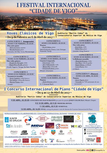 """Este xoves bota a andar o I Festival Internacional """"Xoves clásicos de Vigo"""""""