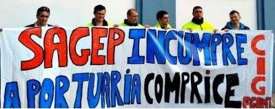 Os estibadores van á folga en contra dunha reforma que pretende poñer os seus traballos en mans de grandes empresas privadas