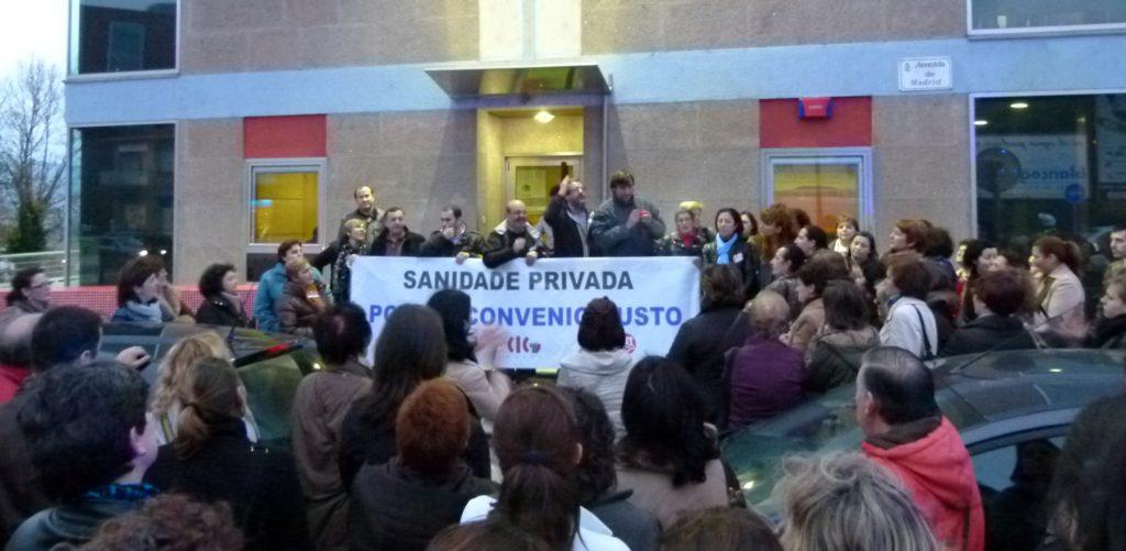 Persoal da sanidade privada volve á rúa para rexeitar a proposta de convenio da patronal de Pontevedra