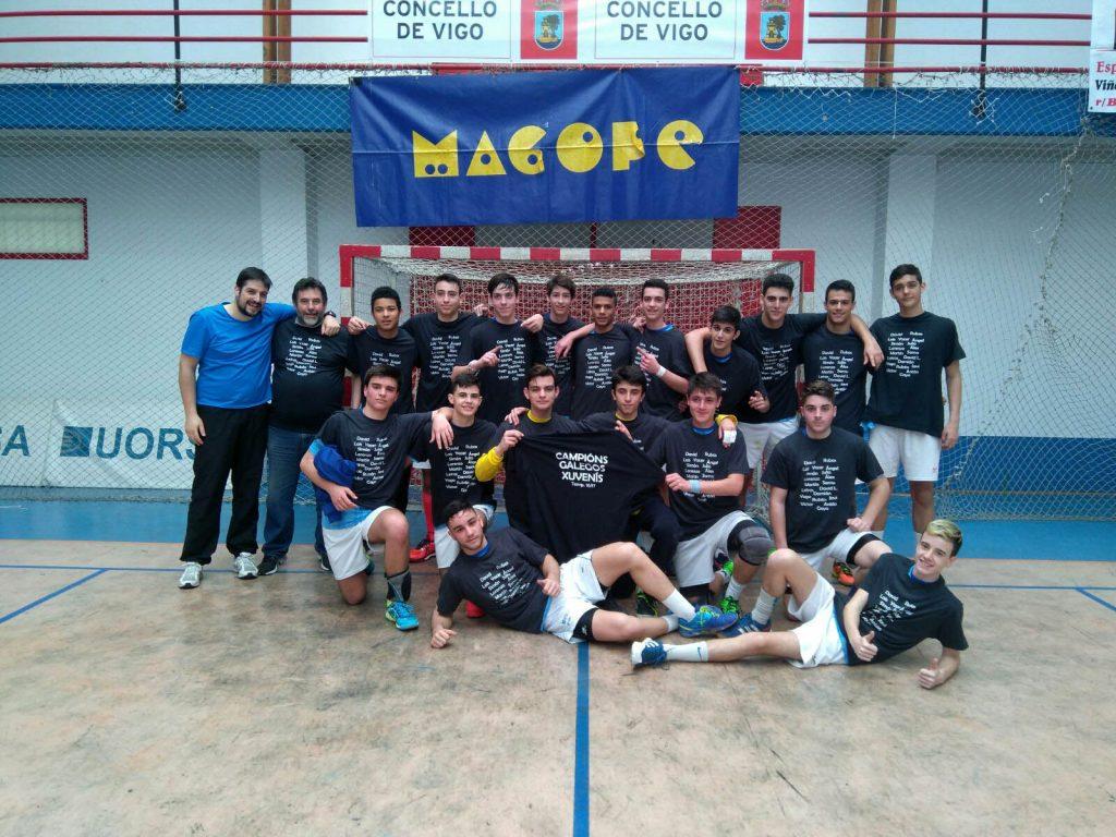 Seis do Nadal Coia Juvenil Masculino, Campeón de Galicia