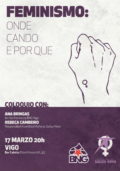 Acto feminista en Vigo organizado pola Asemblea de Mulleres de Galiza Nova e o BNG